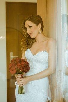 Bride, Wedding, Married, Woman, Pretty, Wedding Dress