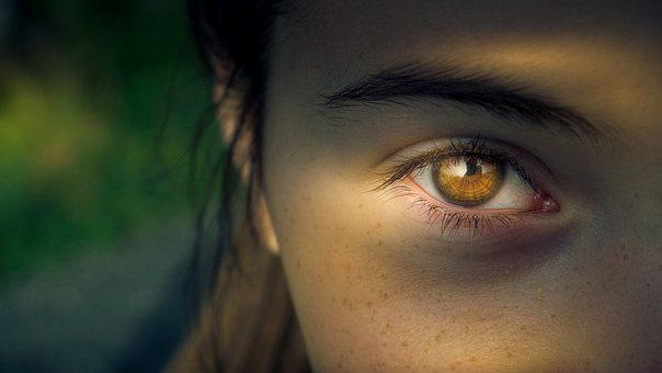 Eye, Light, Woman, View, Close, Portrait, Sun, Girl