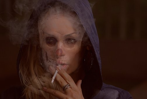 Smoker, Addict, Addiction, Fatal, Skull, Toxic