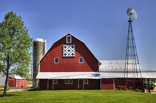 Quilt, Quilt Barn, Windmill, Barn, Rustic, Barns, Ohio