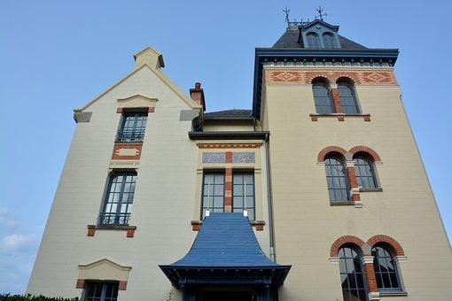 Villa, Remains, Bourgeois, Pretty, Beautiful, Dinard