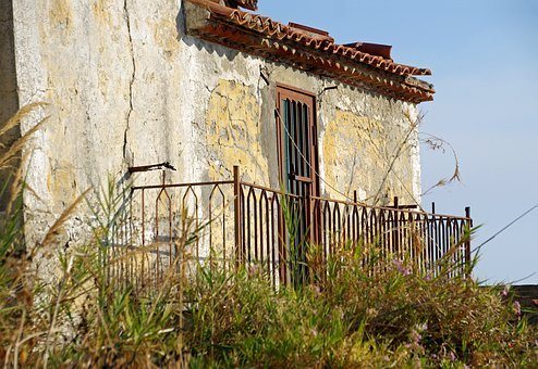 Door, Old, Time, End, Closed, Railing, Casa Antica
