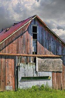 Barn, Barns, Rustic, Art, Digital Art, Artistic