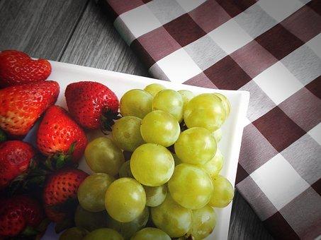 Grapes, Strawberries, Fruit
