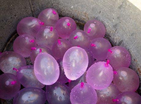Balloons, Depth Charges, Fun, Water, Wet, Summer, Burst