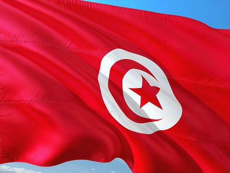 International, Flag, Tunis, Tunisia