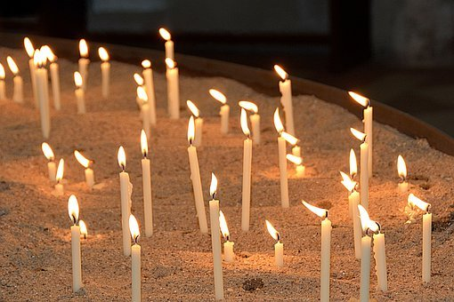 Memorial Candles, Church, Commemorate, Flame