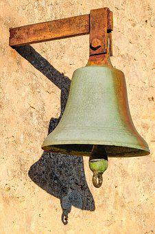 Bell, Rusted, Rust, Metal, Corroded, Wall, Old, Cloche