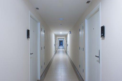 Apartments, Pathway, Corridor, Moon