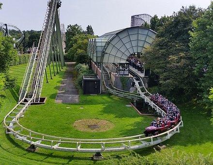 Roller Coaster, Start, Heide Park, Big Loop, Round