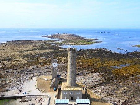 Lighthouse, Ocean, Side, Landscape, Height, Blue Sky