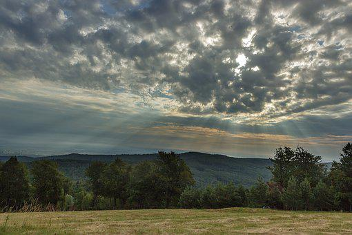 Sky, Morning, Clouds, Sunrise, The Carpathians, Travel
