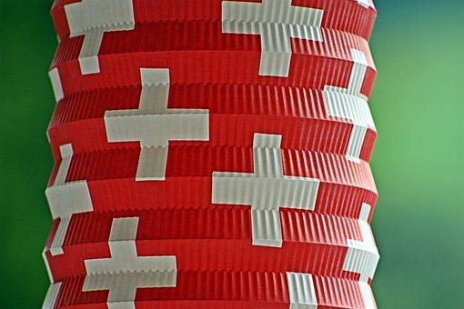 Switzerland, 1, August, Lantern, Swiss Cross