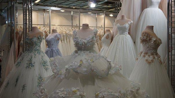 Wedding, Fashion, Art, White, Woman, Bride, Dress