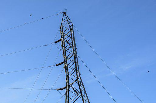 Power Line, Power, Electric, Industry, Wire, Silhouette