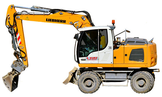Excavators, Site, Blade, Work, Isolated, Cropping