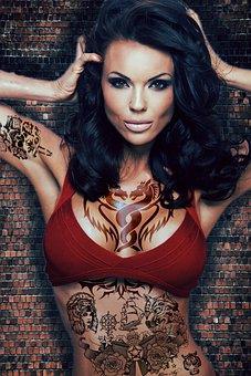 Girl, Tattoo, Model, Adult, Exposure, Eyes, Photography