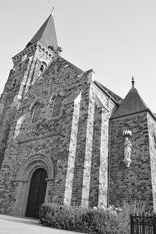 Church, Photo Black White, Architecture, Bell, Building