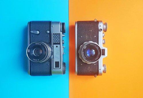 Antique, Background, Black, Camera, Random, Caucasian