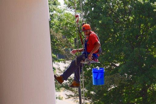 Window Washer, Man, Washer, Cleaner, Work, Window