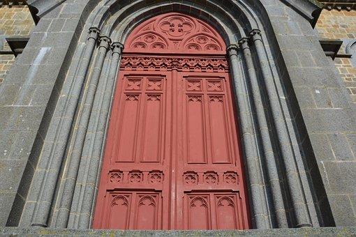 Portal, Church, Large Door, Door, Red