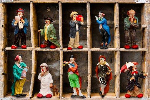 Figures, Clown, Porcelain, Funny, Musical Clown