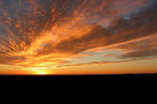 Grand Canyon, Navajo, Point, Sunset, Clouds, Sky