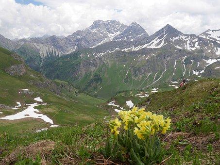 Mountains, Liechenstein, Hiking, Snow, Landscape