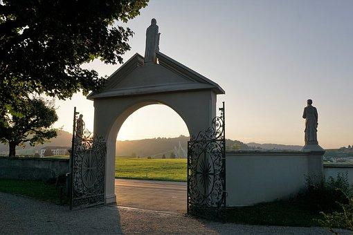 Einsiedeln, Cemetery, Condolences, Stone Figure, Human