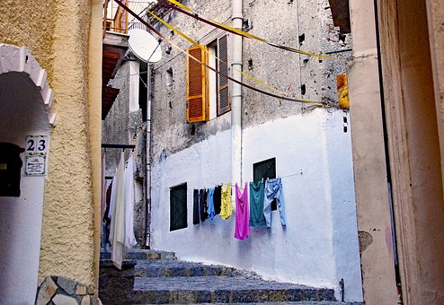 Alley, Country, Old Town, Scalea, Calabria, Italy