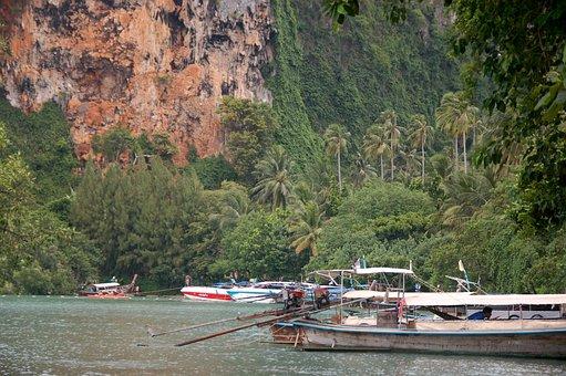 Longtail Boat, Krabi, Railay Beach, Thailand