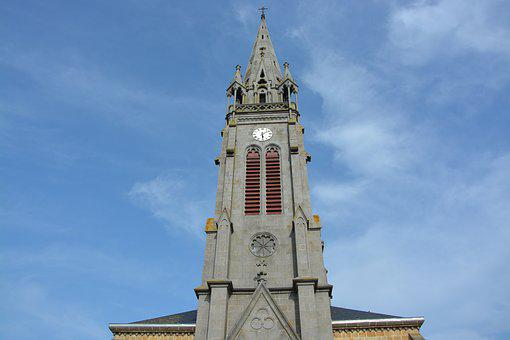 Bell Tower Church, Photo Face, Pendulum, Clock