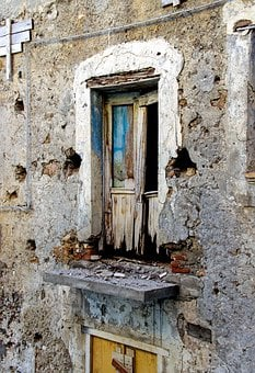 Ruin, Decay, Time, Run-down, Balcony, Door, End, Old