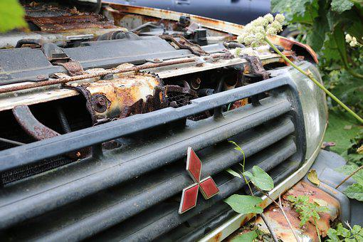 Mitsubishi, Auto, Motor Vehicle, Scrap Trade