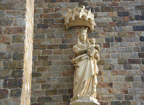 Statue, Holy Virgin, Mary With Jesus