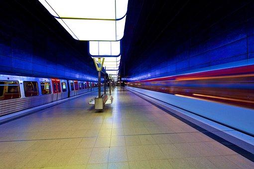 Hamburg, Stop, U4, Light, Modern, Lights Game, Lighting
