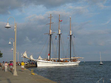 Tall Ship, Harbor, Empire Sandy, Tall, Ship, Boat