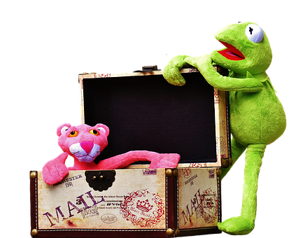 Plush Toys, Kermit, The Pink Panther, Toys, Box, Chest