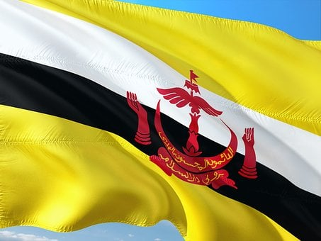International, Flag, Brunei