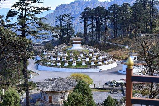 Dochula Pass, Monument, Stupa, Shanti Stupa, Buddhism