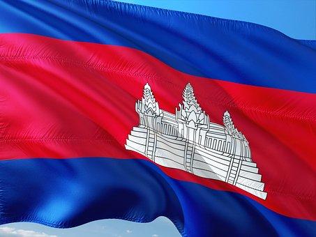 International, Flag, Cambodia