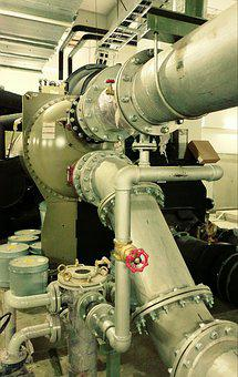Machine, Chiller, Mechanical, Piping, Technology