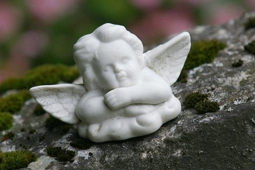 Angel, Contemplative, Figure, Cemetery, Angel Figure