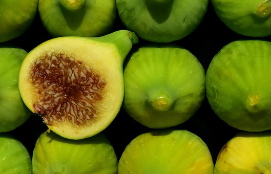 Figs, Green Figs, Green, Real Coward, Fruit, Food, Eat