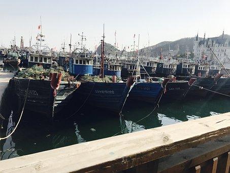 Dalian, Fishing Boats, Pier