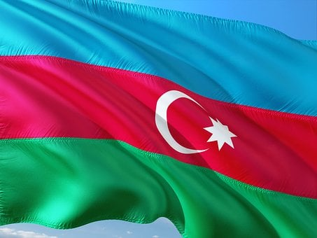 International, Flag, Azerbaijan