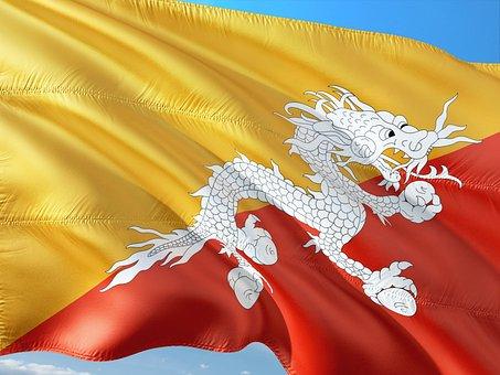 International, Flag, Bhutan