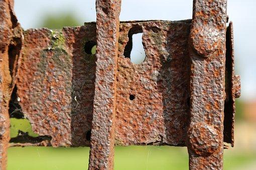 Rust, Lock, Grind, Door, Metal, Iron, Rusty