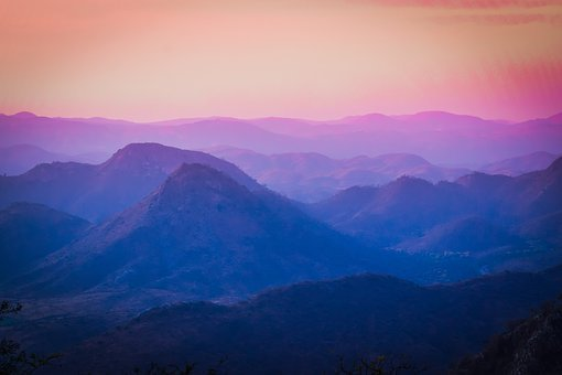 Colourful, Mountains, Rajasthan, Udaipur, Morning