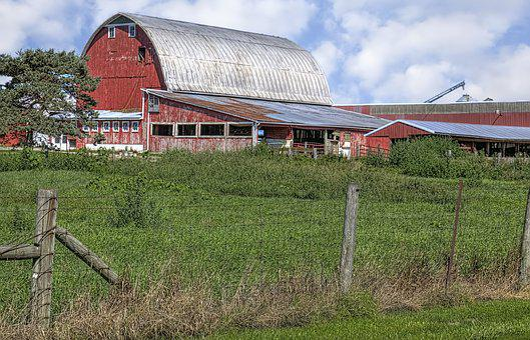 Barn, Rustic, Barns, Ohio, Fence, Digital Art, Rural